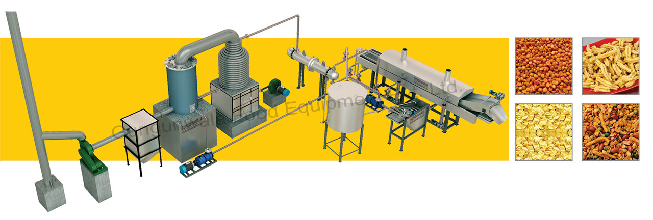#alt_tagContinuous-Namkeen-Fryer-with-Wooden-Based-Thermic-Boiler-&-Thermic-Heat-Exchanger